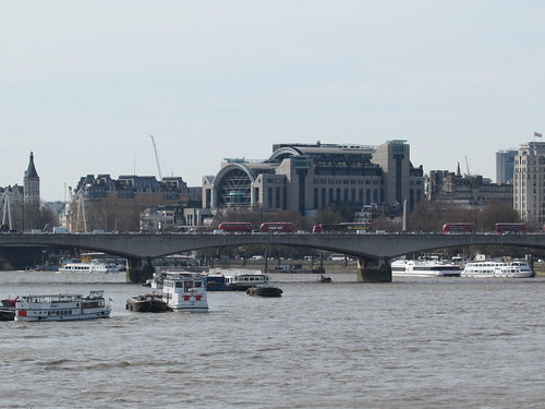 London: River Thames from Blackfriars Bridge (City of London)