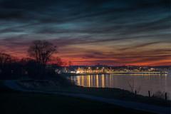 after sunset (LB-fotos) Tags: bay bucht hdr sonnenuntergang balticsea beach coast lights nachts night ocean ostsee seascape strand sunset water küste