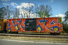 The more things change (builder24car) Tags: railfanning benchingthefreights boxcar graffiti wholecar reks