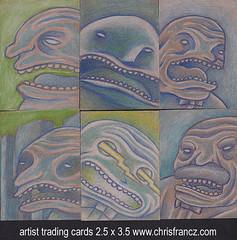 artist trading cards (Chris Francz) Tags: atc atcs artisttradingcards artisttradingcard chrisfrancz tinyart chrisfranczart smallformatart artcard artistcard
