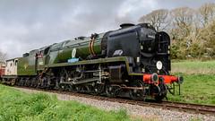 Strictly Bulleid Spring Steam Gala 31-03-2017 098 (Matt_Rayner) Tags: swanage railway strictly bulleid spring steam gala locomotive west country class 34046 braunton 34052 lord dowding