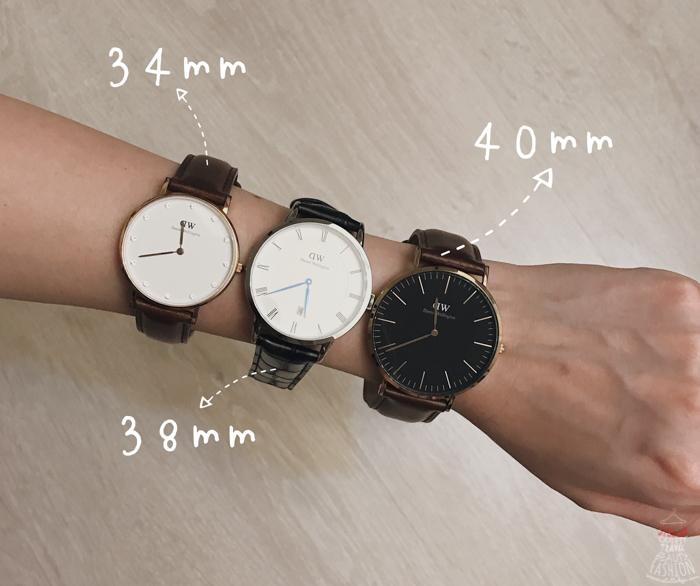 DW手錶尺寸