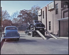 One from the Vault - '39 Ford on a Flatbed (Michael Paul Smith) Tags: flatbed 1939 ford 1937 studebaker faux vintage photograph 124th scale diorama