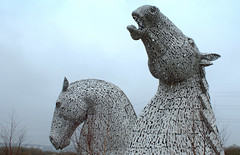The Kelpies - 7 (Tony Worrall) Tags: north country place visit area county attraction open stream tour scotland scottish capture outside outdoors caught photo shoot shot picture captured scots uk tourist striking kelpies thehelix grangemouth horsehead massive new extension forthandclydecanal near rivercarron sculptures art artist artwork publicart huge tall silver statue made metal shapes