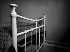 Lines and Shades (pippigar) Tags: uk england london croydon bed bedframe monochrome interiors bw hdr panasonicdmcg6 level2goldplussecondchance