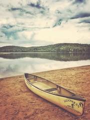 Arrowhead Provincial Park - Like Glass (Dave Noyle) Tags: sand beach sky water lake clouds fall 2016 outfitters algonquin canoe shore park provincial arrowhead ontario canada