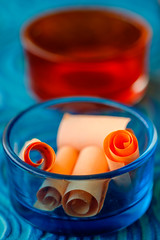 Unfold (Deepak Kaw) Tags: orangeandblue macromondays macro colours composition fujifilm digital bokeh dof art artistic