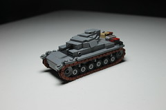 PanzerBefehlsWagen III AusF. F ([C]oolcustomguy) Tags: lego panzer german wwii world war two ii brick arms brickarms grey brown black dark panzerbefehlswagen iii ausf f