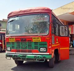 Shegaon - Aheri (yogeshyp) Tags: msrtc maharashtrastatetransport msrtcparivartanbus aheridepotbus shegaonaheristbus