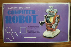 Computer Robot Box Side (Bandai 1960's) (Donald Deveau) Tags: computer robot sciencefiction toys vintagetoy bandai japanesetoy batteryoperated box