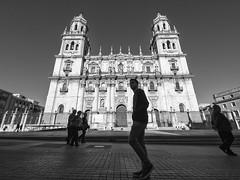Catedral de Jaén, Andalucía, Spain (Angel Talansky) Tags: jaen catedral andalucia spain catedraldejaen turismo arquitectura cathedral street streetphoto streetphotography iglesia zuiko7mm zuiko zuiko714 ultrawide olympus em1 religion bw gente city ciudad 139 zd714mm