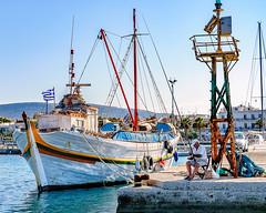Parikia, Paros (Kevin R Thornton) Tags: d90 boattrip nikon travel parikia mediterranean greece fishing harbour paros gr