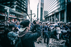 Capturing Leaf fans celebrating @ Maple Leaf Square Game 1 of Stanley Cup Playoffs (A Great Capture) Tags: maple leafs stanley cup playoffs hockey agreatcapture agc wwwagreatcapturecom adjm ash2276 ashleylduffus ald mobilejay jamesmitchell toronto on ontario canada canadian photographer northamerica torontoexplore spring springtime printemps 2017 city downtown lights urban cityscape urbanscape eos digital dslr lens canon 70d blue streetphotography streetscape street calle photographers camera cameras people celebration