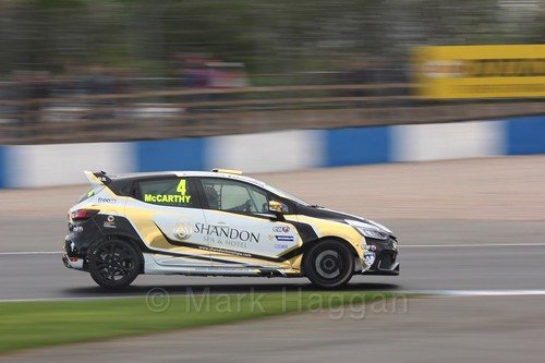 Jack McCarthy in Renault Clio Cup Race Three at the British Touring Car Championship 2017 at Donington Park