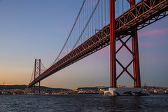 25 de Abril Bridge (Infomastern) Tags: 25deabrilbridge 25thofaprilbridge lisboa lisbon lissabon ponte25deabril portugal riotejo river tagus tagusriver bridge bro flod ponte sky solnedgång sunset vatten water exif:model=canoneos760d geocountry camera:make=canon geocity camera:model=canoneos760d exif:focallength=32mm exif:isospeed=800 geolocation exif:lens=efs18200mmf3556is geostate exif:aperture=ƒ40 exif:make=canon