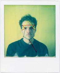 Georg's mask (Urizen Freaza) Tags: mask polaroid impossibleproject theimpossibleproject embroidery instantfilm film analogue analog sx70 landcamera sx70sonarautofocus integralfilm roidweek roidweek2017 polaroidweek polaroidweek2017