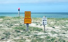 towards latrabjarg (kexi) Tags: beach water ocean atlanticocean signs iceland shore coast europe sand sky canon may 2016 blue instantfave