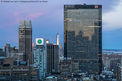 Garment District to Lower Manhattan (20170423-DSC00574-Edit) (Michael.Lee.Pics.NYC) Tags: newyork aerial hotelview hiltontimessquare nelsontower 1pennplaza onewtc worldtradecenter sunrise morning sony a7rm2 fe70300mmg
