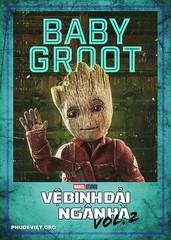 GOTG 2 - BABY GROOT (nam fullbuster) Tags: guardians galaxy vol 2 poster characters việt hóa nam lê yondu rocket nebula mantis gamora ego drax baby groot ayesha
