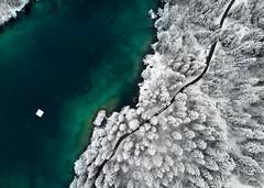 Crestasee (Marcel Cavelti) Tags: dji0021bearb crestasee graubünden schweiz drohne drone grisons switzerland forest lake alpin swiss snow winter spring road airial mavic dji