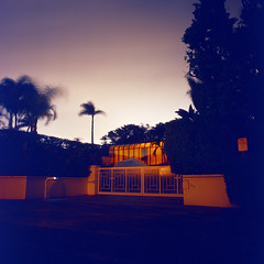 (patrickjoust) Tags: usa house color 120 6x6 tlr film beach night analog america dark lens 1 us reflex focus long exposur