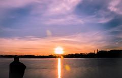 Contre Jour Sunset (David Raynham) Tags: sunset sky water nikon nottinghamshire contrejour redsnapper d7000 kingsmillresevoir