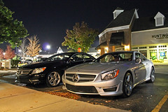 Mercedes-Benz SL 63 AMG (Hertj94 Photography) Tags: car canon silver mercedes benz illinois nikon october top hunting hard convertible front 63 sl german t3 coupe v8 spotting amg barrington rwd engined 2013 s8200