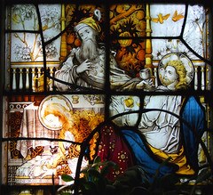 Judas Iscariot watches Mary Magdalene anoint the feet of Jesus Christ (Clayton & Bell) (Simon_K) Tags: church churches essex chelmsford writtle