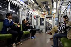 Tokyo Metro - Hibiya Line (Howard_Pulling) Tags: train tokyo rail railway zug trains line april nippon bahn railways 2014 howardpulling