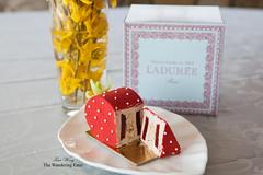 Ladurée La Fraise pastry, sliced (thewanderingeater) Tags: nyc lafraise ladurée