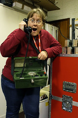Caz 365 - Day #114 (cazphoto.co.uk) Tags: selfportrait me modern technology phone bbc elstree fieldtelephone canoneos100d selfie365 240414 canon1855mmeff3556isstm