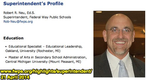 Robert R Neu: Superintendent - Federal W by Wesley Fryer, on Flickr