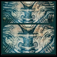 RIP HR GIGER!!!! My chest piece by Lea Vendetta...I love Giger so much I got TWO of the same painting on my body #necronom1 #hrgiger #gigertattoo @leavendetta #biomechanical