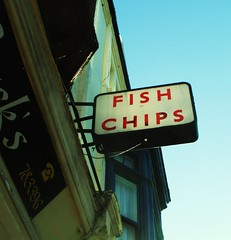 Fish Chips (teaselbrush) Tags: city uk sea england urban fish sign shop lost coast town seaside chips coastal promenade signage portsmouth chip british southsea