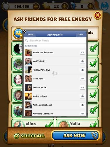 Jewel Mania Social: screenshots, UI