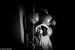 is someone behind? (TheSilviAgreda) Tags: dark balloons children scary clown horns longisland littlegirl scaryclown darkphotography rockaways forttilden scarychildren creepychildren darkbeauty creepyphotos scaryphotography