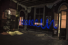 Blue Cork Screw (darkday.) Tags: light abandoned bar painting photography hotel photo bravo long exposure risk pics explorer australian australia pic brisbane adventure explore urbanexploration infiltration qld queensland aussie seeker hacking thrill ue adventurer urbex queenslander abando