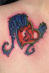 New School Mending Heart Tattoo Design 113 (tattoos_addict) Tags: new school tattoo design heart mending 113 hearttattoos