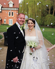 Neil and Ann (Shaws2u) Tags: flowers wedding groom bride dress confetti bridesmaids bouquet