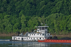 PAULA RUBLE (Joe Schneid) Tags: kentucky transportation louisville coal barge towboat inlandwaterway inlandwaterways americanwaterways crounse paularuble ohiorivermile619