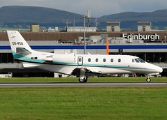 OO-PGG Cessna 560XL Citation Excel (Gerry Hill) Tags: edinburgh airport scotland turnhouse ingliston d90 d80 d70 boathouse bridge nikon aircraft aeroplane airline egph airplane transport gerry hill international sony f707 jet propellor runway edi airways d7200