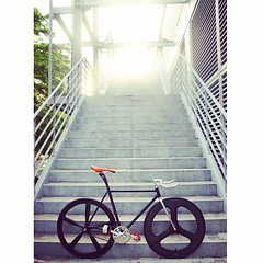 STAND OUT STEEL! (OZOTW) Tags: green bicycle shop square 50mm cycling aluminum asia track raw meetup taiwan gear fork tire cap squareformat ag frame singlespeed fixed taichung fixie fixedgear gt carbon custom velodrome slope pursuit mash sanmarco skid lug ozo 2014 amaro aff1 aff2 aff3 chainlock bottombracket 4130 cinelli 700c madeintaiwan 2013 6066 steelbike chromoly 46t completebike kingheadset tricktrack carbonrim bullhornbar barspinable iphoneography ozotw srams80 wwwozotwcom 4130steel slopeframeset instagramapp uploaded:by=instagram tpuvelcrotoestrap eurobottombracket 40mmdeeprim plume2 affframeset ospoke