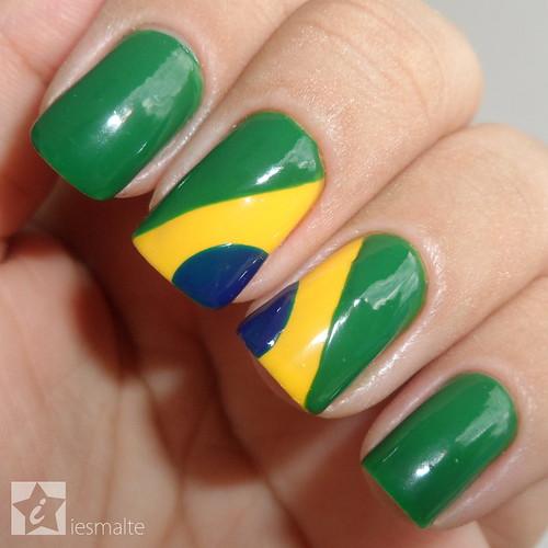 Unhas Decoradas - Bandeira do Brasil