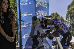 2014 Tour of California (Culture Shlock) Tags: california road usa bike bicycle sport race cyclists champagne racing cycle celebrate 2014 tourofcalifornia bradleywiggins rohandennis lawsoncraddock westlakevillagethousandoaks