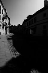 Vilnius (Lithuania) - Uzupis district (Picturepest) Tags: street blackandwhite bw monochrome blackwhite sw schwarzweiss lithuania vilnius artdistrict litauen schwarzweis knstlerviertel schwarzweissfotografie schwarzweisfotografie