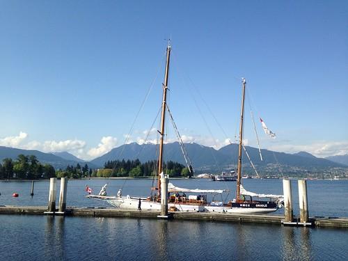 ocean mountains vancouver sailing seawall sailboats
