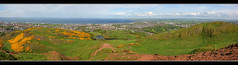 Busy At The Top (K-Burn) Tags: park people panorama edinburgh busy hillside northberwick firthofforth musselburgh