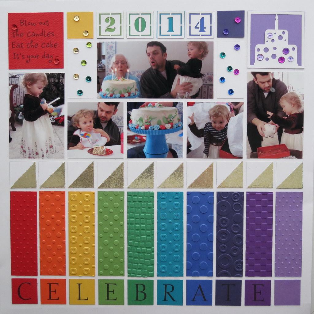 Scrapbook ideas rainbow - Six Ways To Make Birthday Pages Sing _02 5pines Tags Birthday Scrapbook