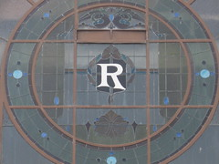 Detail of the Art Nouveau Stained Glass Window of the Former Regent Theatre - Murray Street, Colac (raaen99) Tags: 1920s cinema building window glass sign architecture facade 1931 1930s theatre australia stainedglass victoria moderne stained business company classical artdeco nouveau movietheatre deco 20thcentury regent 1925 rendered colac murrayst jugendstil rsl windowart paramounttheatre paramountcinema regenttheatre glassart countryvictoria arched murraystreet moviehouse theparamount epoque secessionist twentiethcentury commercialarchitecture theregent picturetheatre nouveauart interwar regentcinema architectunknown returnedandservicesleague commericalbuilding stainedglasssign provincialvictoria regentpicturetheatre architecturallydesigned interwararchitecture classicalmoderne poquebelle interwarfreeclassicalarchitecture interwarfreeclassicalbuilding interwatfreeclassicalstyle windownouveaubelle interwarfreeclassical paramountpicturetheatre