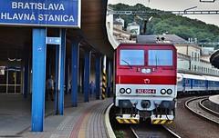 362 004-4 na EC 131 Varsovia (a.holenkova) Tags: travelling station electric train platform railway locomotive bratislava eso 131 ec varsovia 362 362004